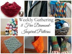 Weekly Gathering: 8 Free Diamond-Inspired Crochet Patterns