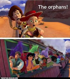 Disney's got a thing with orphans.