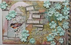 Craft Hoarders Anonymous challenge 15 art journal page by DT member Christy Butters using Crafty Secrets collage images