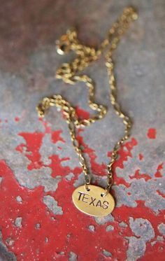 TEXAS hand-stamped custom necklace. made in the USA {junk gypsy co}