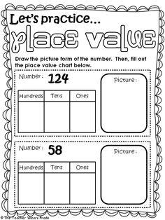 ... value worksheets 2nd grade | Second Grade Place Value Worksheets More