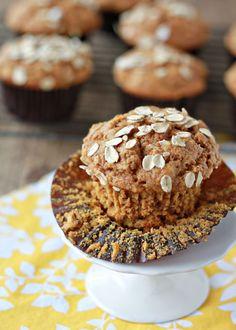 Whole Wheat Pumpkin Oat Muffins