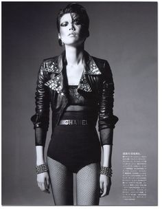 Leather, punk, chanel