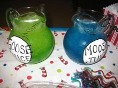 Dr Seuss Snack, Beverage & Food Ideas: Goose Juice Moose Juice