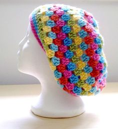 Granny Square Slouch Hat