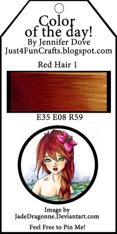Copic Red Hair