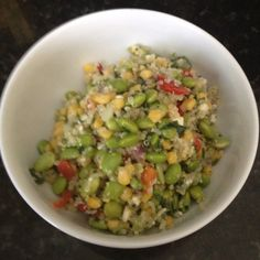 Quinoa edamame salad- so good!