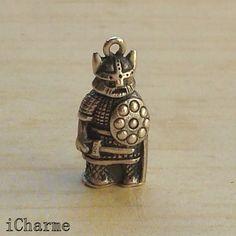 Vintage Sterling Silver Bracelet Charm Viking