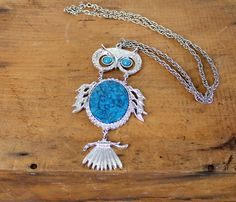 Articulated 1970s Owl Necklace