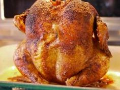 Beer can chicken is a very popular grilling method, but it can also be easily prepared in the oven. It comes out just as crispy and delicious.  Give it a try!
