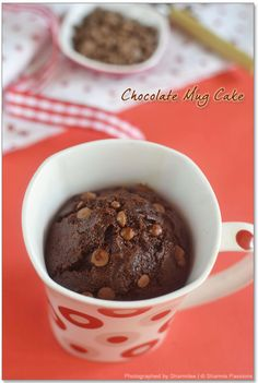 2min Eggless Microwave Chocolate Mug Cake