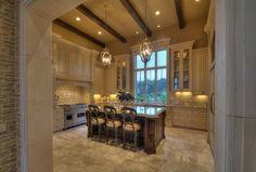 Gourmet Kitchen - Tuscan Villa - San Antonio, Texas