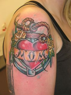 momtribut tattoo, anchor tattoos