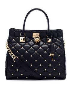 LA QUIEROOOOOO..... Large Hamilton Studded Quilted Tote Bag by MICHAEL Michael Kors at Neiman Marcus.