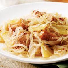 Chicken Sausage with Potatoes & Sauerkraut  Recipe