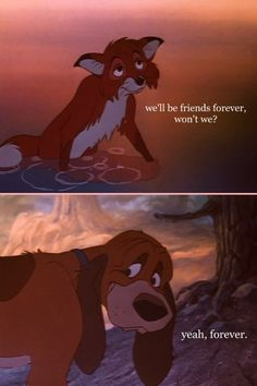 This movie is sooo sad.. Fox and the Hound