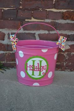 BUBBGLEGUM PINK 10 Quart Bucket - Easter Basket Pail - Halloween Candy Bucket on Etsy, $26.00