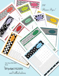 Tricia-Rennea, illustrator: The 2011 Planner Pages are Ready!