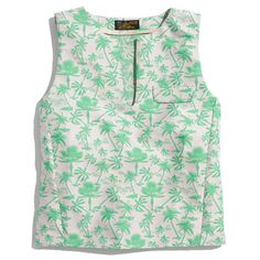 cropped floral tank