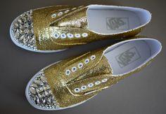 diy miu, inspiration, vans, bling shoes, glitter shoes, dance shoes, paint brushes, miu miu, sneakers