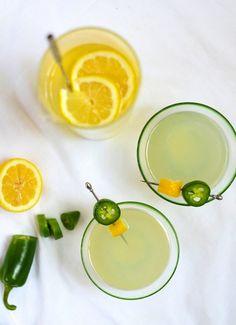 Bottoms up! Jalapeño Vodka Lemonade.