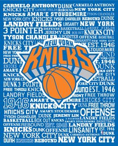 New York Knicks Typography