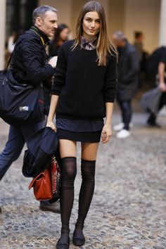 Perfect layered outfit & great hair (cut and color)