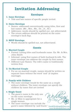 Wedding Invitation Addressing #weddingtips #weddingplanning