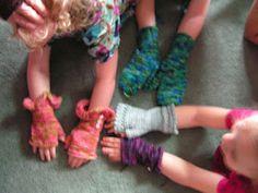 charity mitten knitting