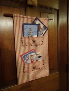 Primitive Christmas or Holiday card holder