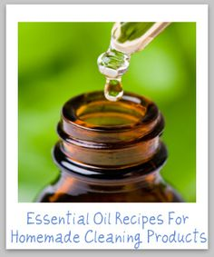 DIY Essential oil recipes for homemade cleaning products.