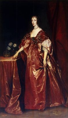 Queen Henrietta Maria  By Anthony van Dyck