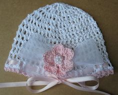Crochet Newborn Baby Infant Hat and Booties Set by babycrochets