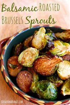 Easy Balsamic Roasted Brussels Sprouts - These were good but 25 mins at 400 overcooked them.