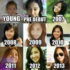 SNSD GIRLS  GENERATIONYuri Snsd Before And After