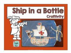 Columbus Day- Ship in a Bottle Freebie!