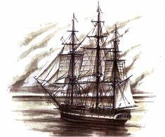 , sea audio, ship tattoo, art, sail, ships, quot, 3d printing, nautic