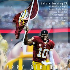 Happy birthday to one of #Baylor's favorite sons! // Robert Griffin III, #Baylor University Class of 2010 #RGIII #RG3