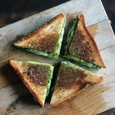 Spinach Avocado Grilled Cheese