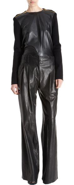 Proenza Schouler Leather Front Zip Sweater...yes please.