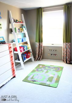 IKEA Big Boy Room Reveal: Bunk beds, toy storage, play mat, dresser, closet, and more all in one shared boy's room!