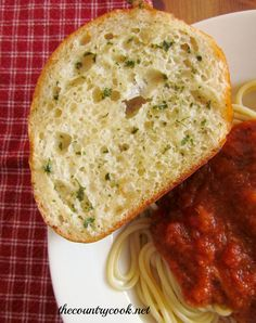 The Country Cook: Easy Garlic Bread easi garlic, food, butter, breads, eat, easy garlic bread, kids, recip, country