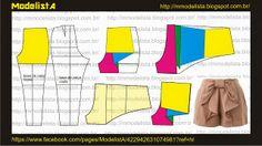 Modelagem de bermuda com laço ModelistA: LAÇO NA BERMUDA