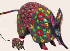 Oaxacan carved armadillos