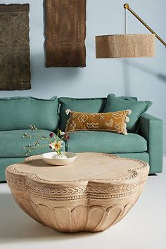 Anthropologie Handcarved Cicely Coffee Table