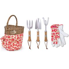Laura Ashley Cressida Heart Basket and Tool Set