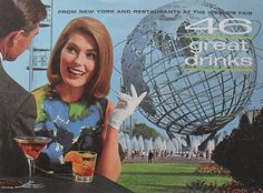 Vintage booklet, 46 Great Drinks from New York and Restaurants at the World's Fair.