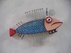 Twisted Salmon 2, Original Found Object Sculpture, Wood Carving, Wall Art, by Fig Jam Studio. $76.00, via Etsy.