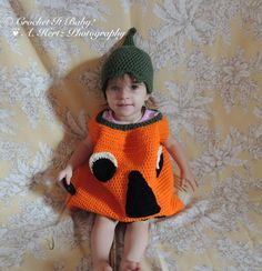 Crochet Halloween Pumpkin Costume  PATTERN ONLY by CrochetItBaby, $5.00