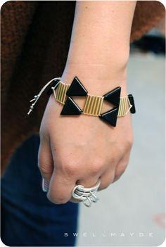 swellmayde: DIY Reader's Choice | Triangle Bead Bracelet